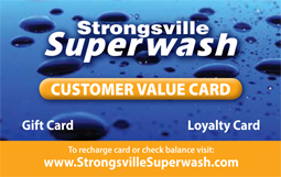 Strongsville Superwash Customer Value Car Wash Card